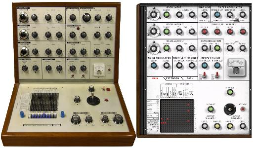 Pic 3 An original EMS VCS3 vs the XILS 3.2 (main panel)
