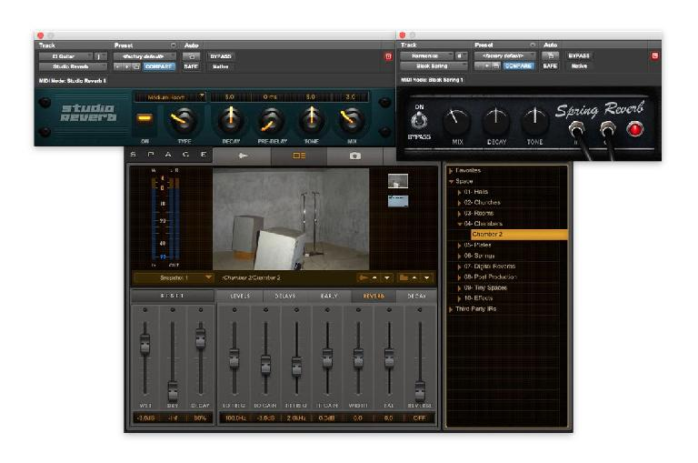 The reverbs—Black Spring and Studio Reverb (plus Space)
