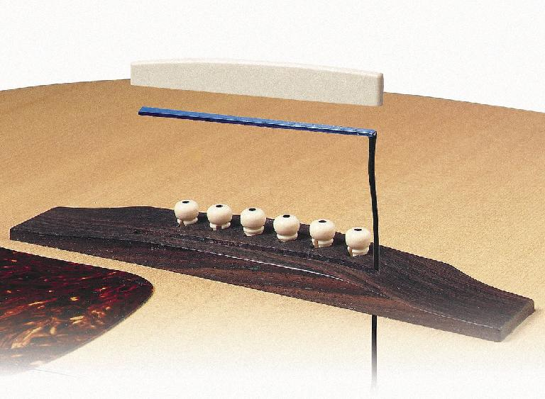 An acoustic guitar's onboard (piezo) pickup assembly for DI
