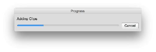 This dialog won't always appear, but sometimes it can take a short while.