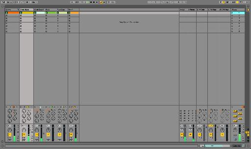 I've quickly built up a basic electro-breakbeat loop in the Session View.