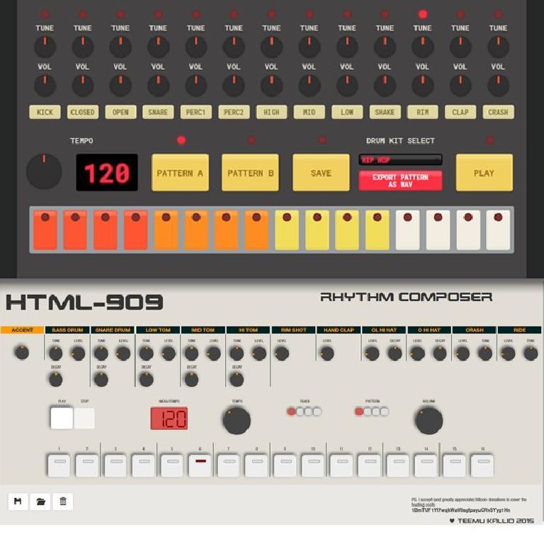 web based drum machines