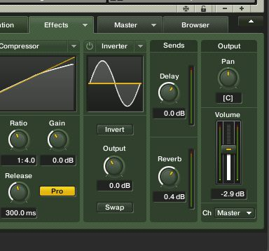 Sending specific sounds to the delay and reverb from the cell effects page