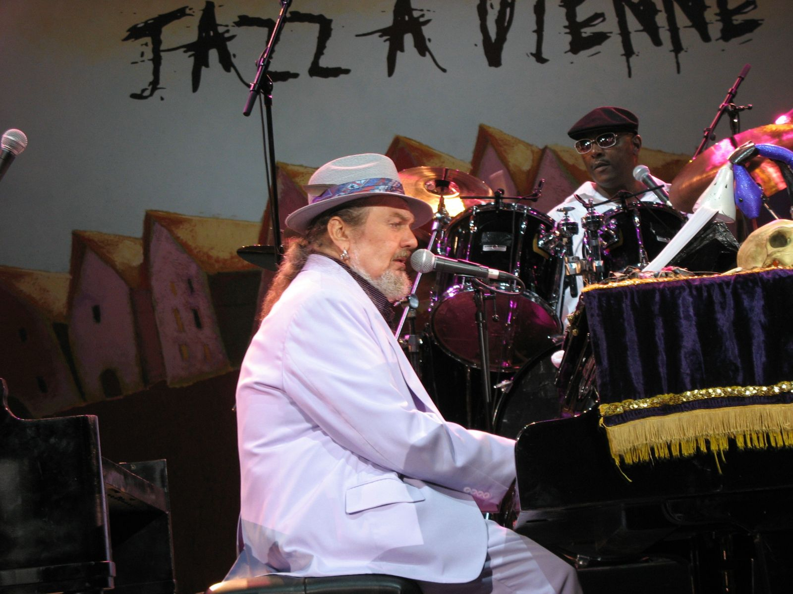 Dr John, doing his thang