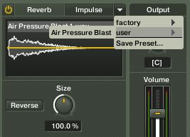 Saving reverb settings