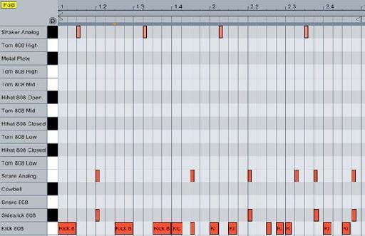 The drum pattern