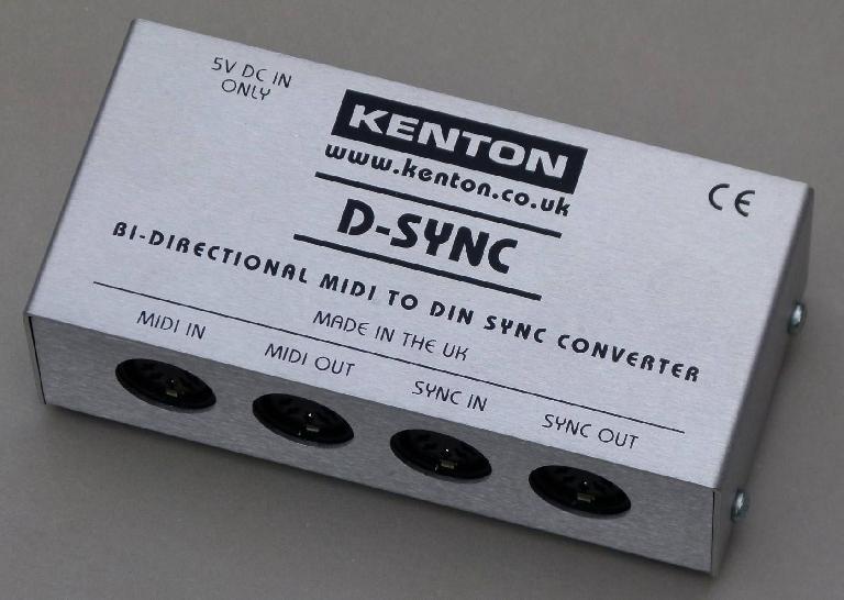 Kenton D-SYNC bi-directional MIDI to DIN Sync convertor
