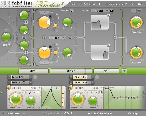 Fabfilter 2 offers not only a great delay sound but endless modulation possibilities.