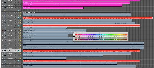 The audio to be put aside is marked.