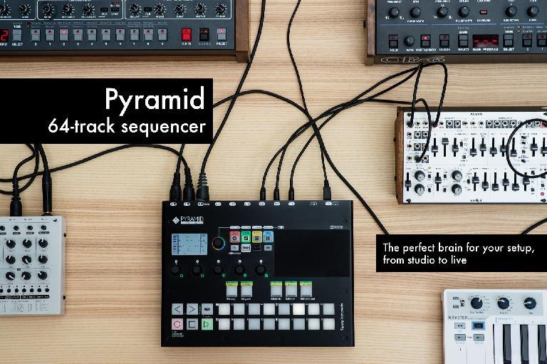 Squarp Pyramid sequencer setup.