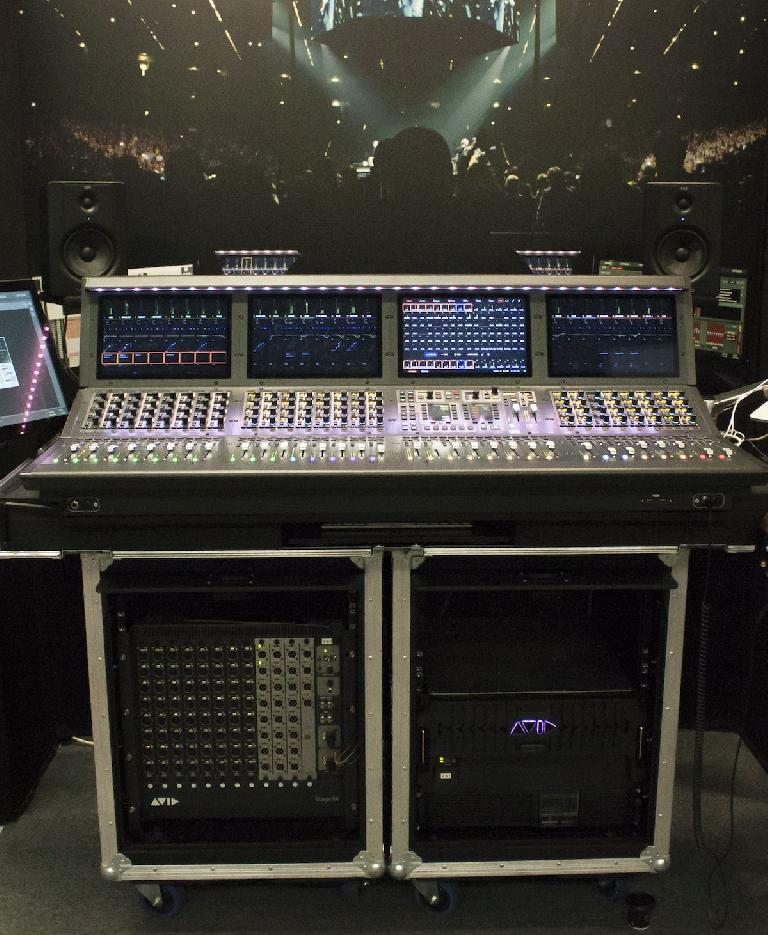What would a convention for and by audio engineers be without world class mixing consoles on display? The Avid SL6 console taking live sound to the next level.