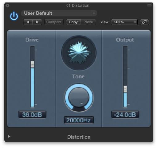 The Distortion plug-in.