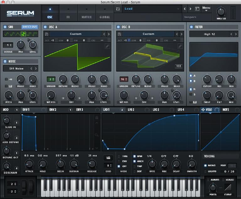 xfer records Serum GUI