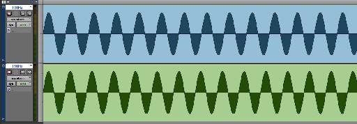 Pic. 3 – Final Binaural Beat in ProTools.