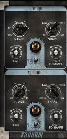 Oscillator settings