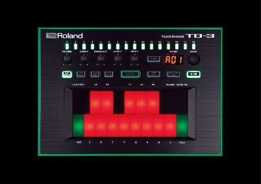 The new Roland AIRA TB-3 in all its glory.
