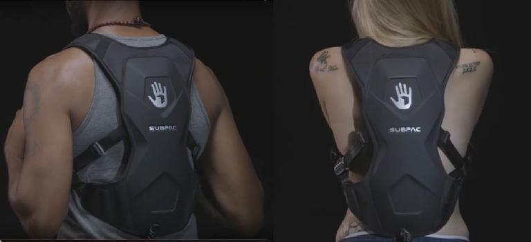 The SubPac M2 is like a slim back pack.