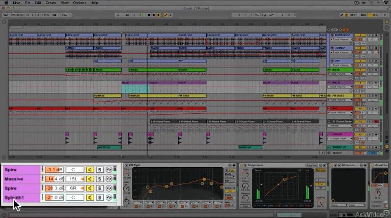 An Instrument Rack in use in Ableton Live 9.