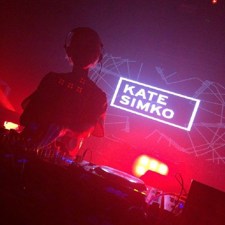 Kate Simko playing a DJ set