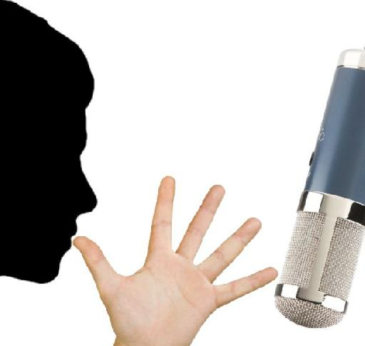 """Fig 4: A singer around 6-8""""—a hand's-length—from the mic"""
