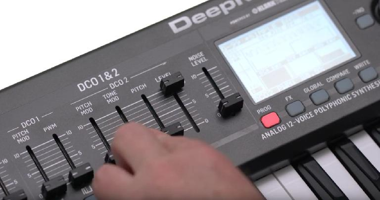 DCO 1 & 2 on DeepMind 12 synthesizer