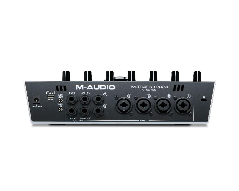 M-Audio M-Track 8X4M rear view.