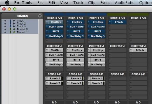 Using Shift-1 with all tracks selected.