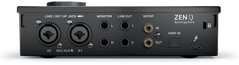 Zen Q Synergy Core 14 x 10 audio interface rear view
