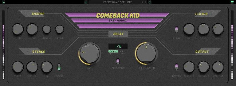 Baby Audio Comeback Kid delay GUI