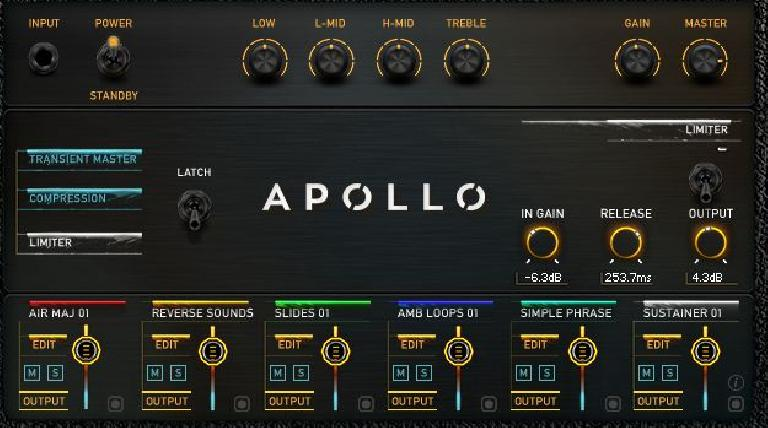 vir2 Apollo Cinematic Guitars effects screen