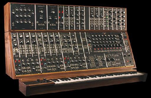 The Moog System 55 modular synthesizer