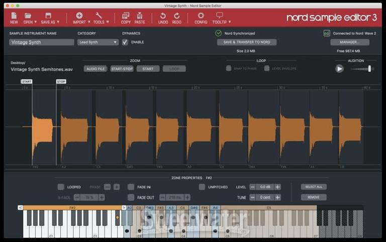 Nord Wave 2 software