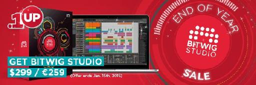 Bitwig Studio End of Year Sale.