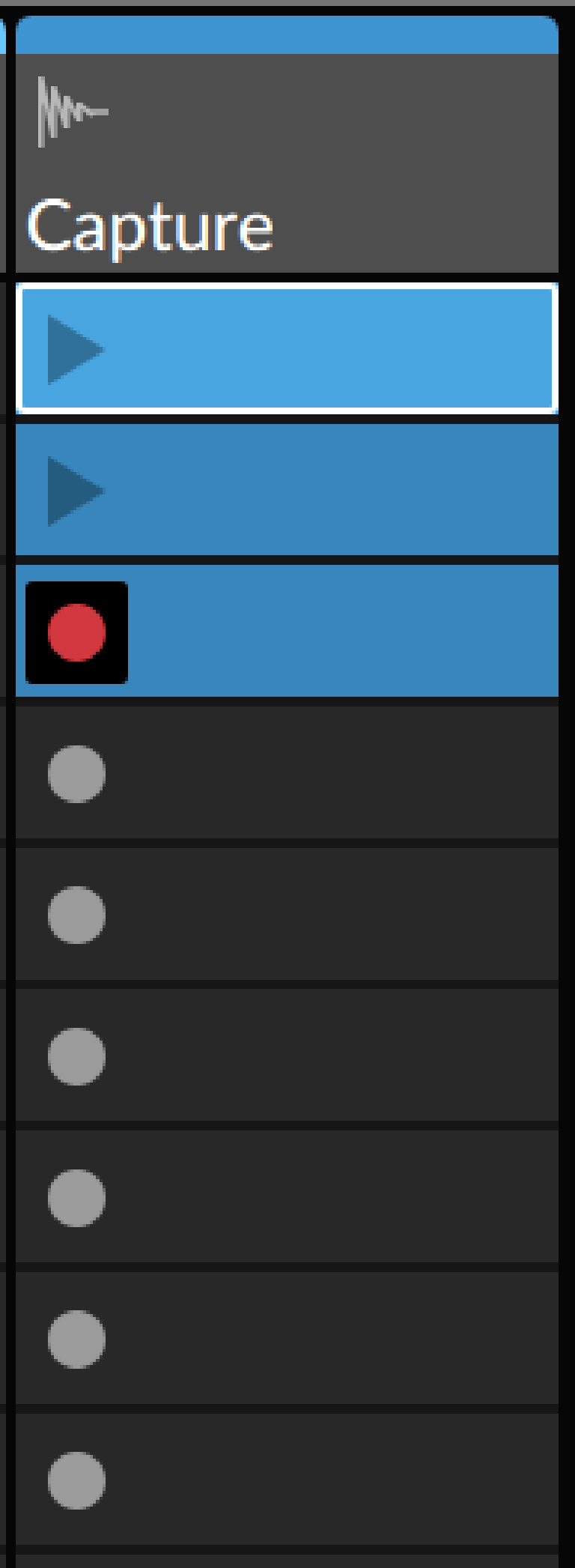 PIC 3: Bitwig automatically recording input to new Clips at two-bar intervals.