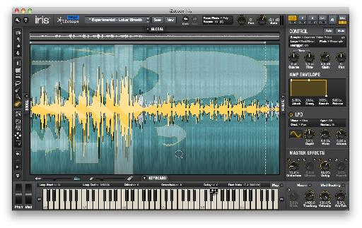 It might look like a crazy artwork, but this is how you select which parts of a sound to play back in Iris.