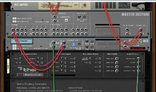 The routing for the side chain effect