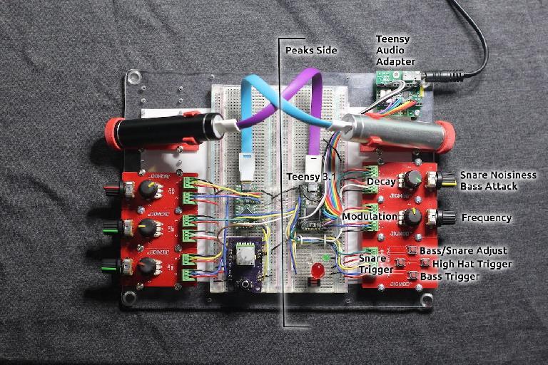 DIY drum machine using Mutable Instruments