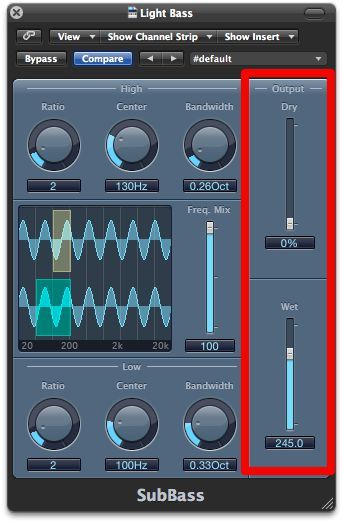 Listening to what the SubBass plug-in is synthesising