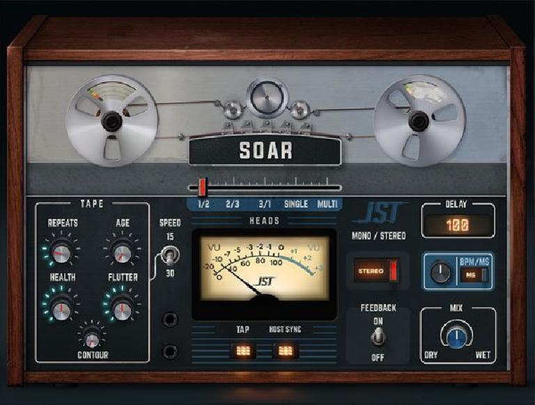 JST Soar Tape Delay Plugin GUI
