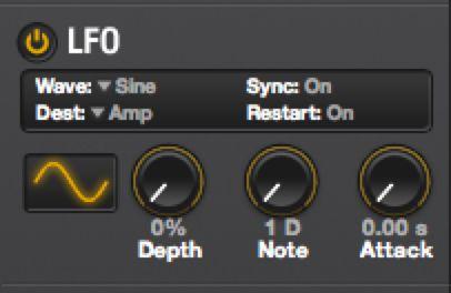 LFO settings.