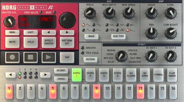 Korg iElectribe interface