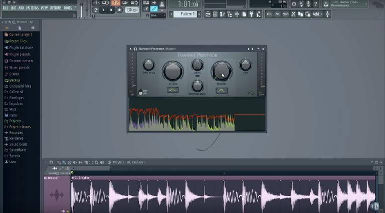 Transient Processor in FL Studio 12.3