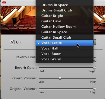 Vocal Excite preset