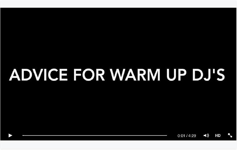 Advice for Warm Up DJs - John 00 Fleming