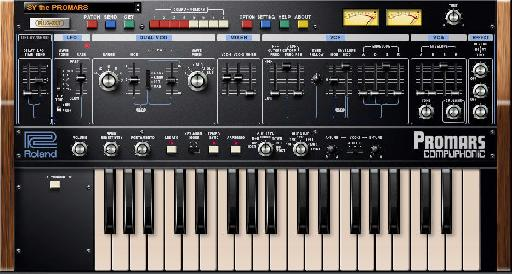Roland ProMars Plug-Out synth for AIRA System-1.