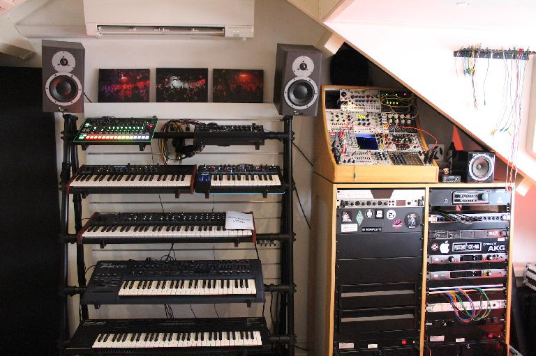 Eelke Klejin's synthesizer and modular synth wall.