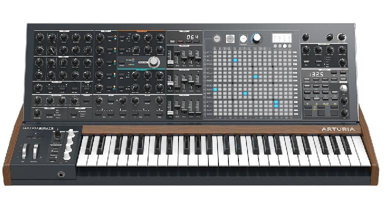 Arturia MatrixBrute analog hardware synthesizer.