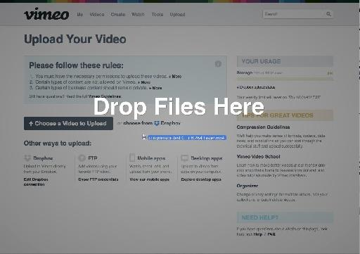 Export it once, then drag it to Vimeo or YouTube manually.