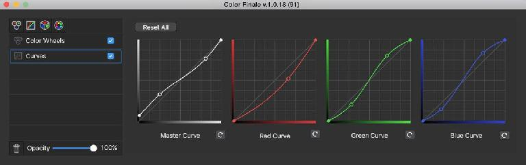 The contrast-reducing reverse S Master Curve with lifted blacks, and on the other channels, some color tweaks too.