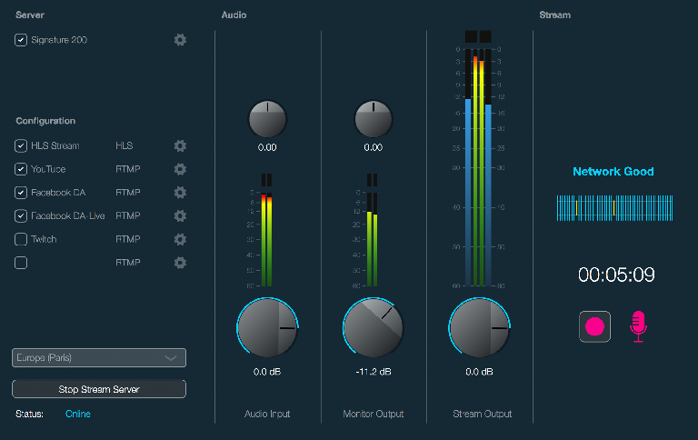 Dialog Audio Live On Air GUI
